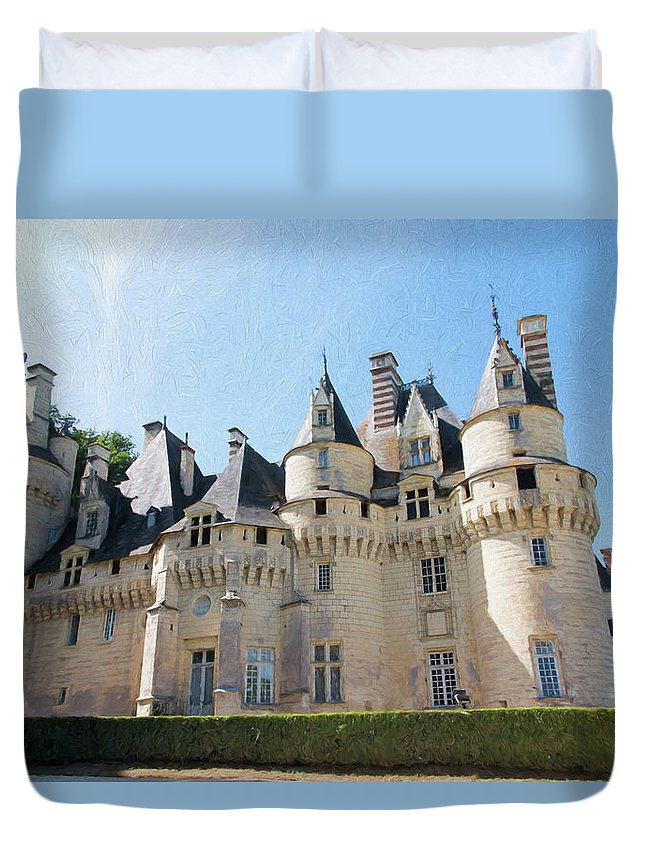Chateau D'usse Duvet Cover featuring the photograph Chateau D'usse, Loire, France by Curt Rush