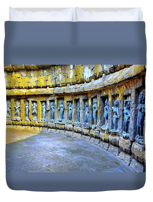 India Duvet Cover featuring the photograph Chausath Yogini Temple by Dominic Piperata