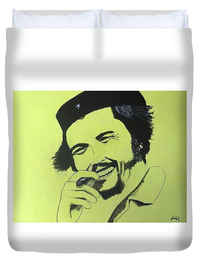Che Duvet Cover featuring the painting Che by Jason Raad