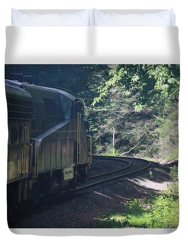 Cheat Mountain Duvet Cover featuring the photograph Cheat Mountain Salamander by Cathy Lindsey
