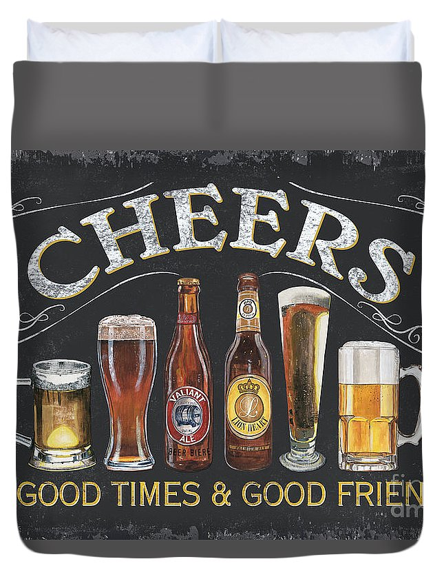 Cheers Duvet Cover featuring the painting Cheers by Debbie DeWitt