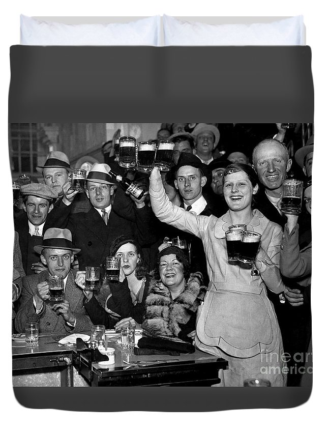 Stamp Out Prohibition Duvet Cover featuring the photograph Cheers by Jon Neidert