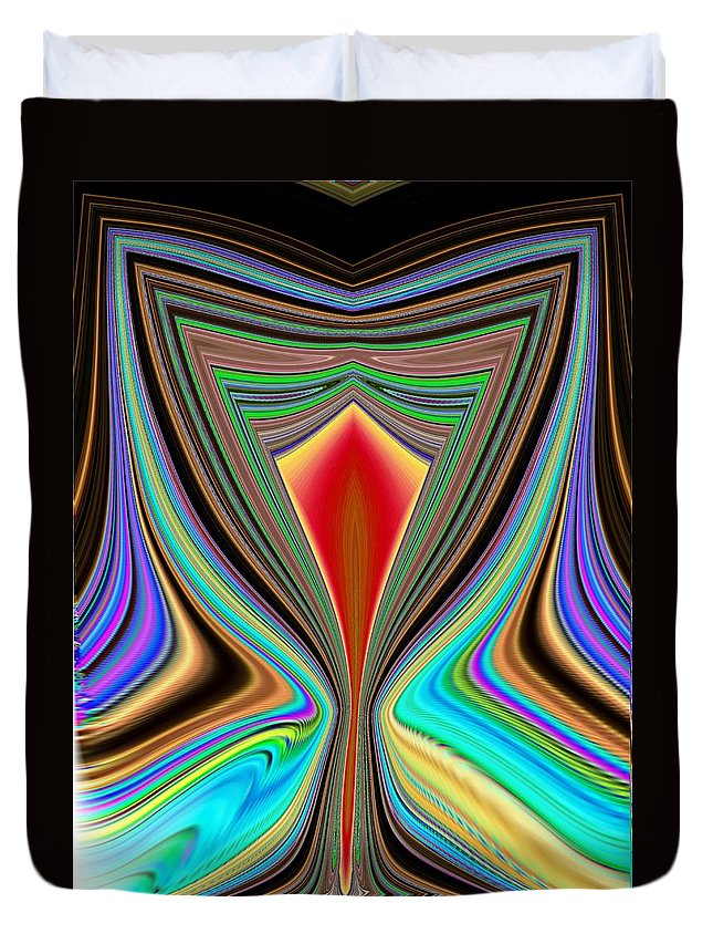 Abstract Duvet Cover featuring the digital art Cheers by Tim Allen