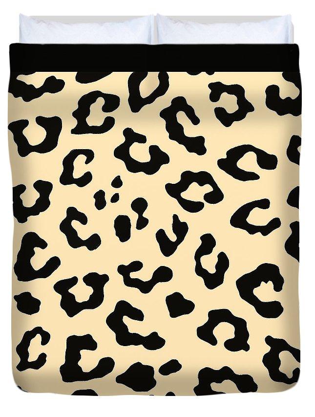 Cheetah Fur Duvet Cover featuring the digital art Cheetah Fur by Priscilla Wolfe