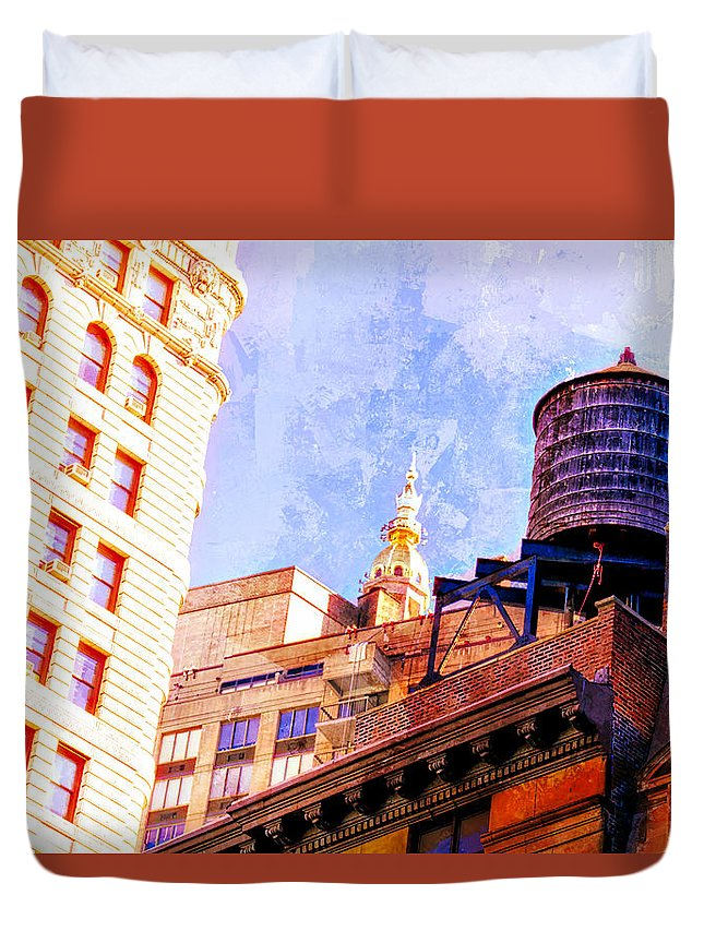Alicegipsonphotographs Duvet Cover featuring the photograph Chelsea Water Tower by Alice Gipson