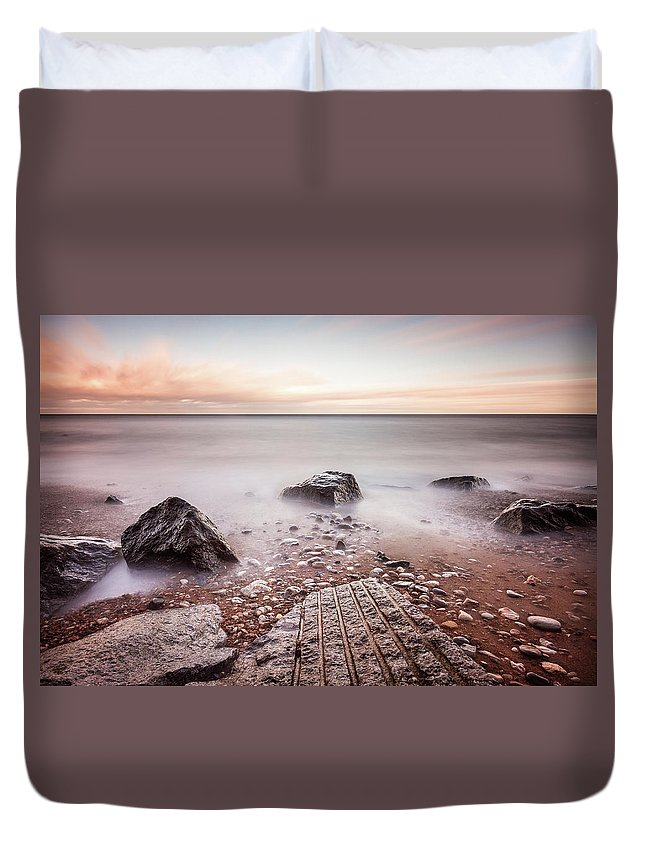 Beach Duvet Cover featuring the photograph Chemical Beach Tide by Gary Turner