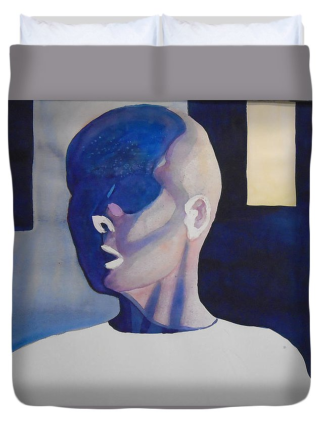 Medical Duvet Cover featuring the painting Chemo Therapy by Patrick Clark