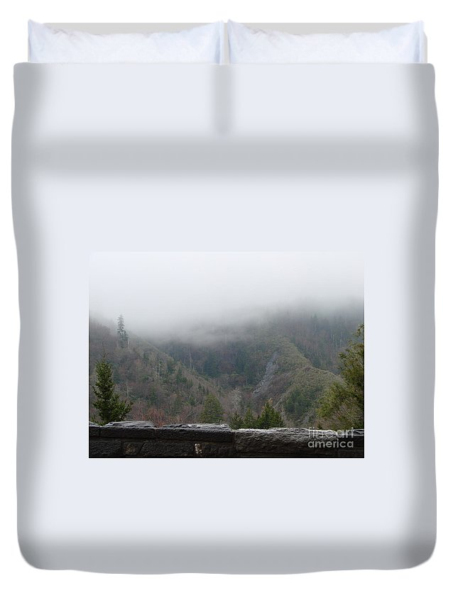 Cherokee Duvet Cover featuring the photograph Cherokee Lookout by Annelize Van der Grient
