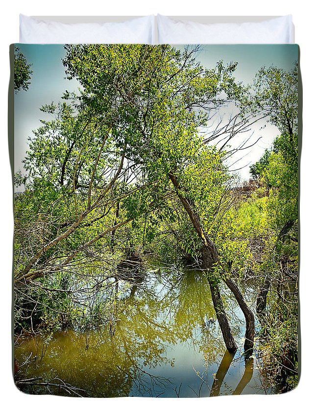 Cherry Creek Duvet Cover featuring the photograph Cherry Creek Trail Study 3 by Robert Meyers-Lussier
