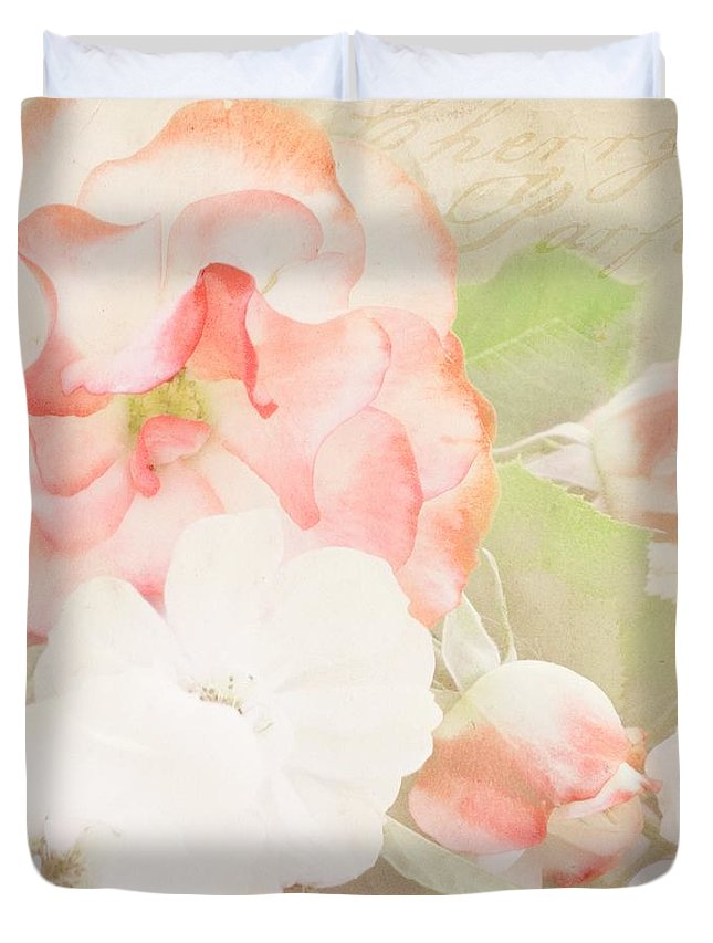 Cherry Duvet Cover featuring the photograph Cherry Parfait by Cindy Garber Iverson
