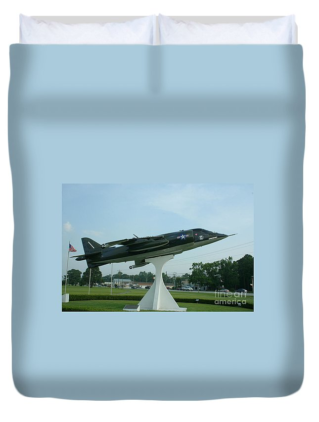 Cherry Point Mcas Nc Duvet Cover featuring the photograph Cherry Point Mcas Nc by Tommy Anderson