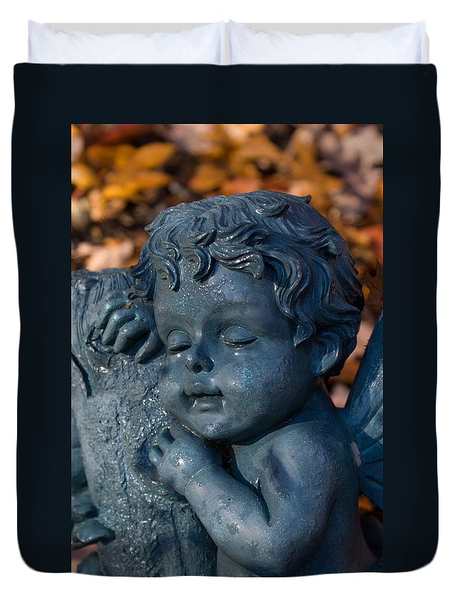 Cherub Duvet Cover featuring the photograph Cherub Sleeping by Douglas Barnett