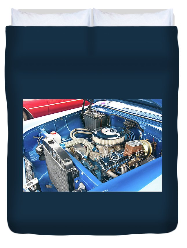 Antique Car Duvet Cover featuring the photograph Chevy 2044 by Guy Whiteley