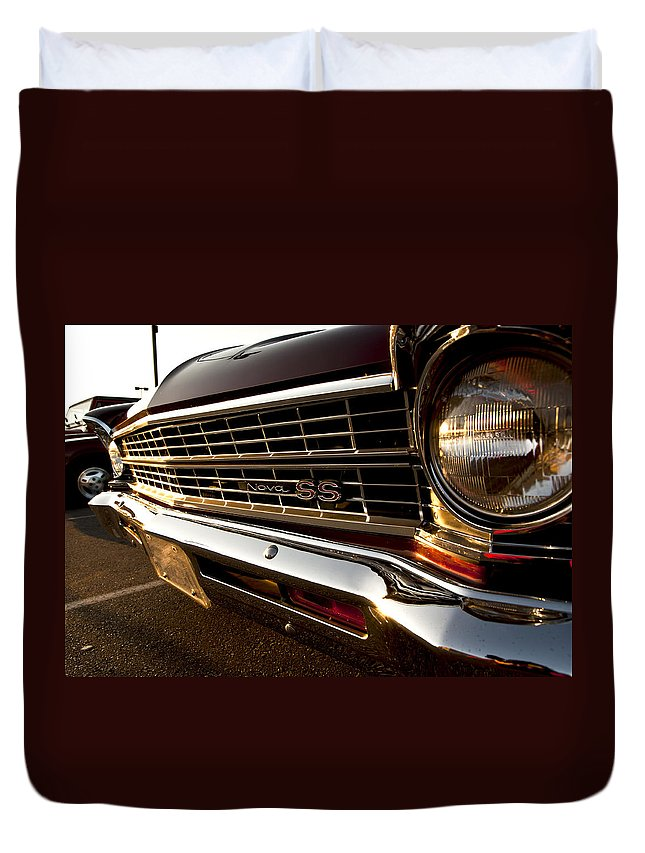 Chevy Duvet Cover featuring the photograph Chevy Nova Ss by Cale Best