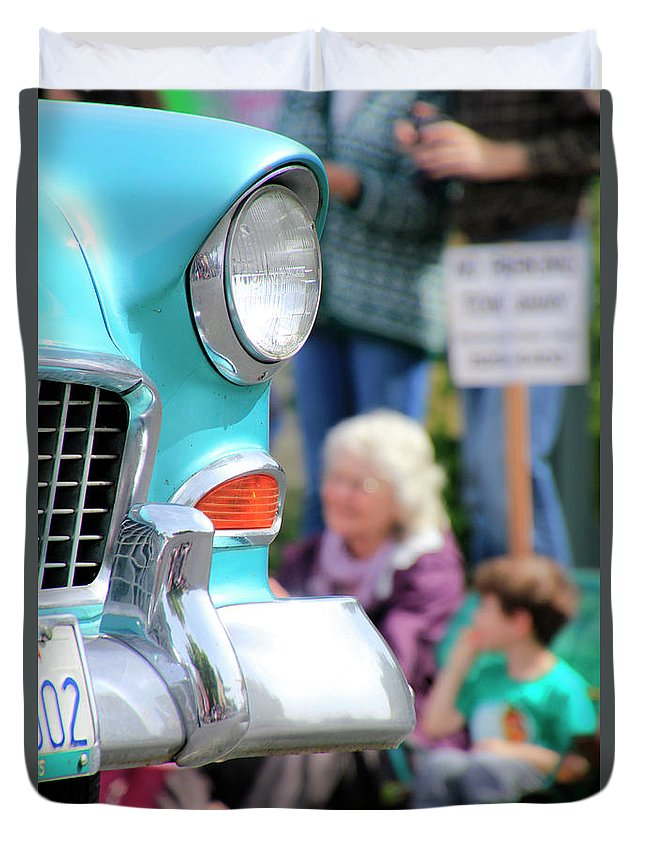 Chevy Duvet Cover featuring the photograph Chevy On Parade by Pauline Darrow