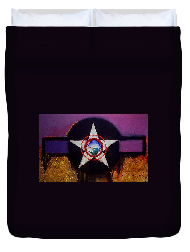 Air Force Insignia Duvet Cover featuring the painting Cheyenne Autumn by Charles Stuart