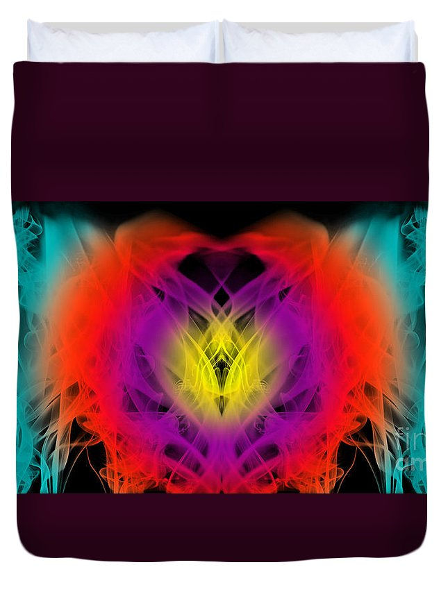 Clay Duvet Cover featuring the digital art Chi by Clayton Bruster