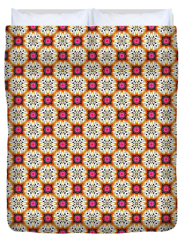 Cute Duvet Cover featuring the tapestry - textile Chic Seamless Tile Pattern by Bimbys Collections