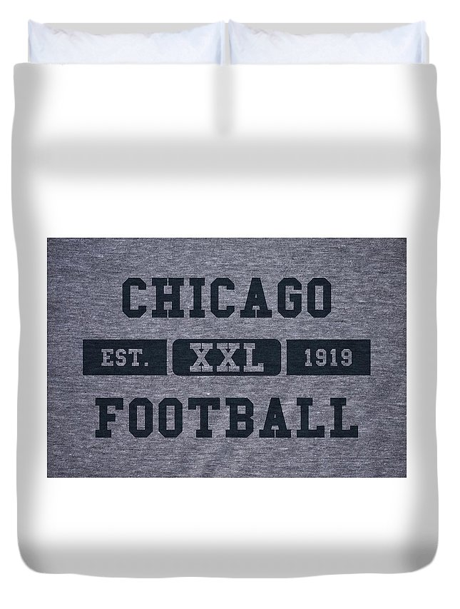 Bears Duvet Cover featuring the photograph Chicago Bears Retro Shirt by Joe Hamilton