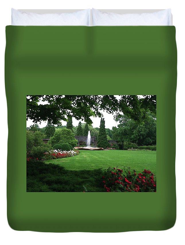 Landscape Duvet Cover featuring the photograph Chicago Botanical Gardens Landscape by Steve Karol