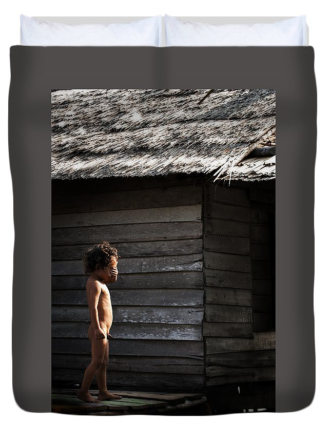 Duvet Cover featuring the photograph Child by Syaifudin Zhuhdi