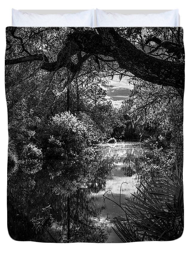 Booker Creek Duvet Cover featuring the photograph Childhood Creek by Marvin Spates