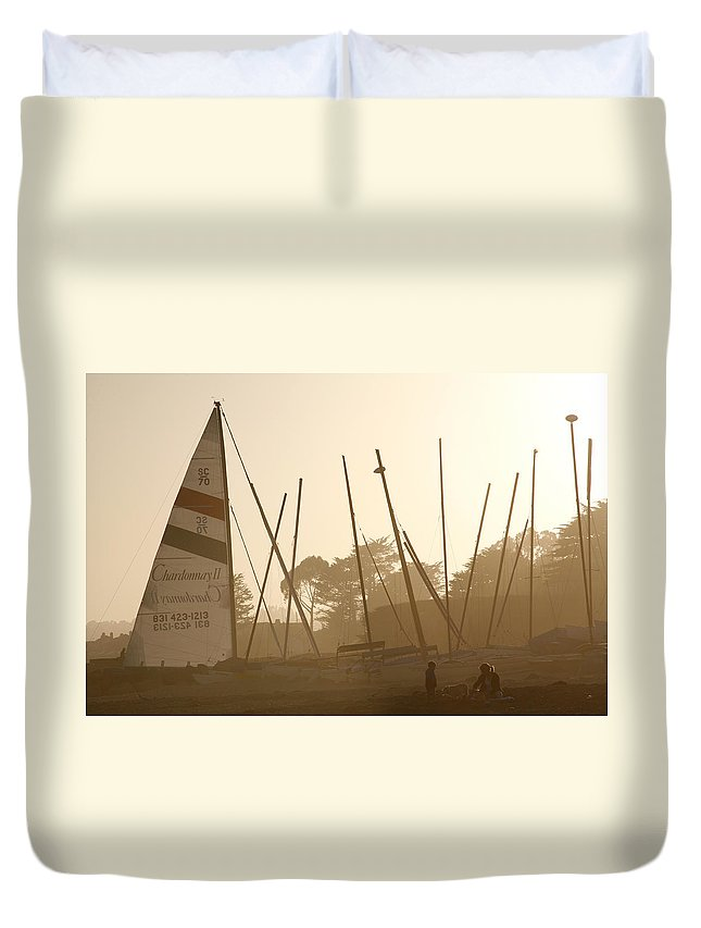Ship Duvet Cover featuring the photograph Child's Play by Marilyn Hunt