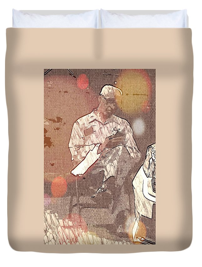 Harlem Duvet Cover featuring the photograph Chillin Sunday by Sheryl Eisner
