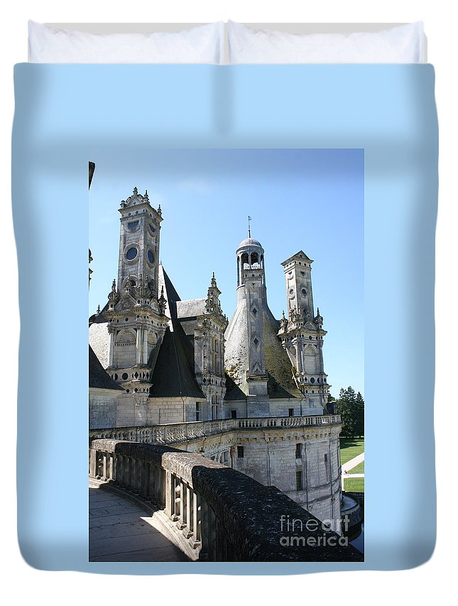 Chimney Duvet Cover featuring the photograph Chimney From Chambord - Loire by Christiane Schulze Art And Photography