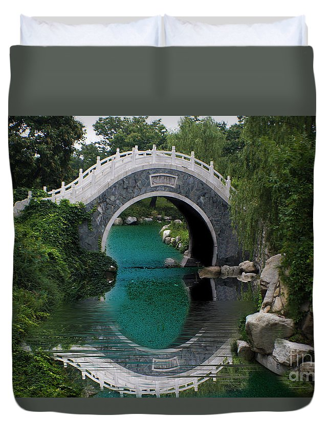 Landscape Duvet Cover featuring the photograph China 20 by Ben Yassa