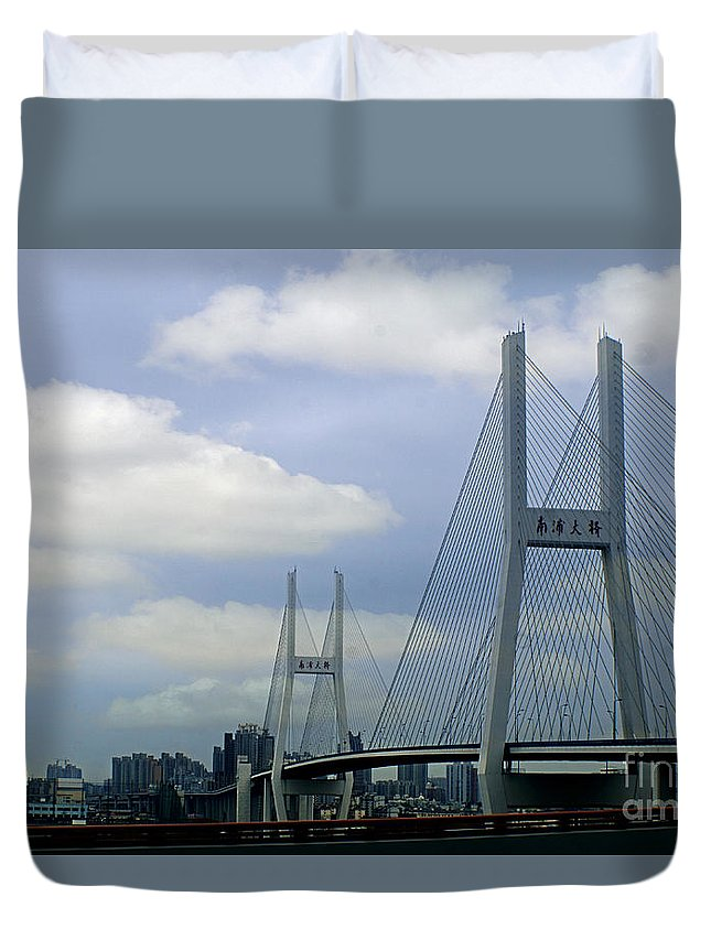 China Duvet Cover featuring the photograph China 25 by Ben Yassa