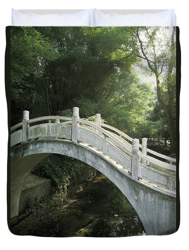 Arch Duvet Cover featuring the photograph China, Guilin by Larry Dale Gordon - Printscapes