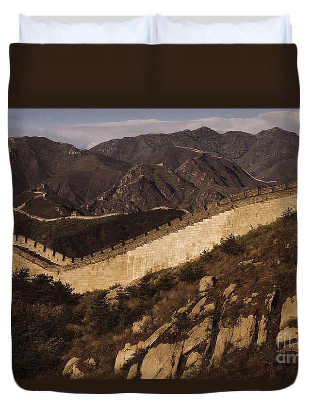 Afternoon Duvet Cover featuring the photograph China, Mu Tian Yu by Larry Dale Gordon - Printscapes