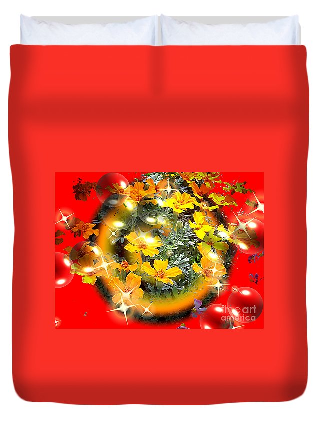 Sphere Duvet Cover featuring the digital art China by Robert Orinski