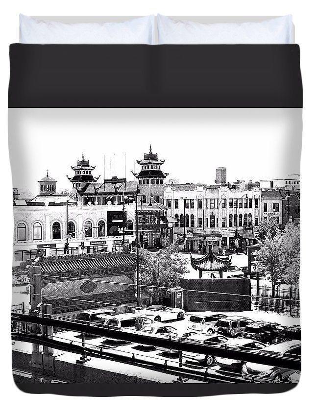 Chinatown Duvet Cover featuring the photograph Chinatown Chicago 4 by Marianne Dow