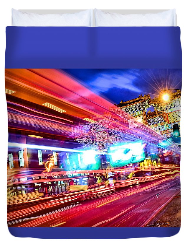 Chinatown Dc Washington Dc Duvet Cover featuring the photograph Chinatown Dc by Dan Reams
