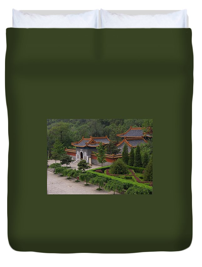 China Duvet Cover featuring the photograph Chinese Palace by Tom Reynen