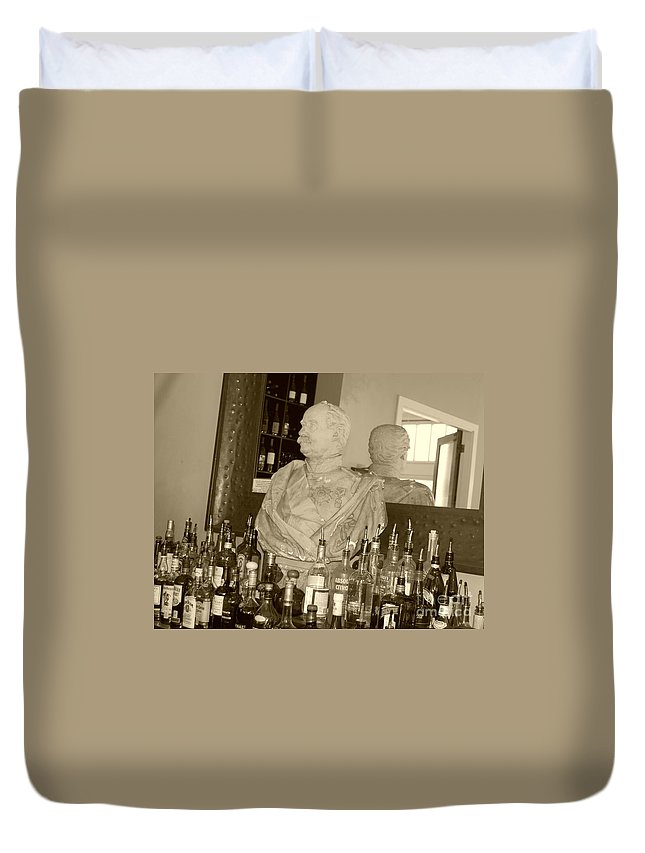 Bust Duvet Cover featuring the photograph Chipped Reflection by Debbi Granruth