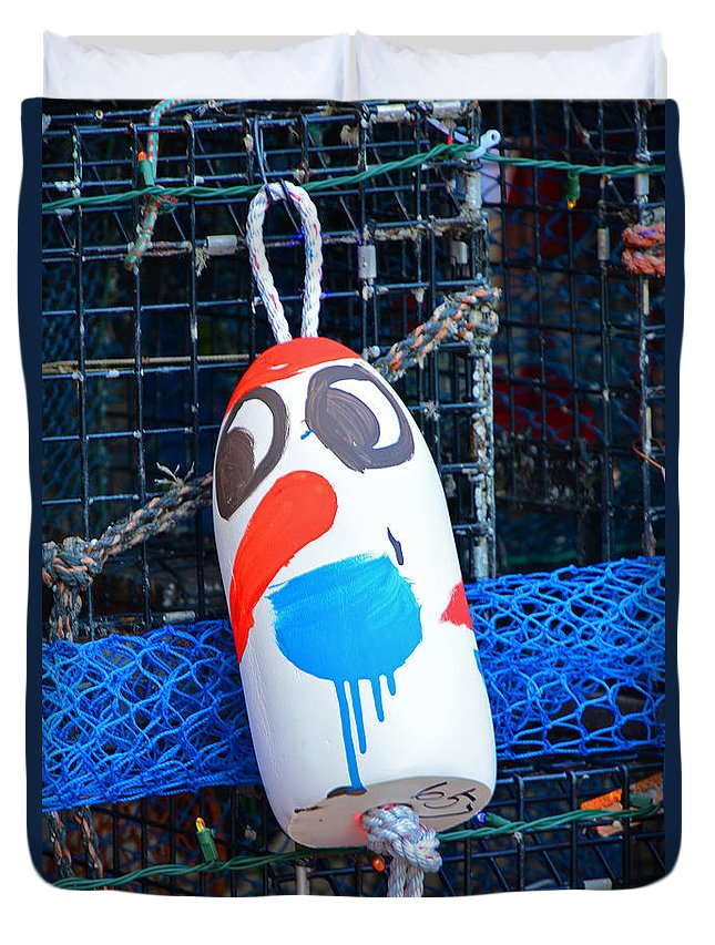 Christmas Duvet Cover featuring the photograph Chistmas Buoy Decoration 657 by Mike Martin