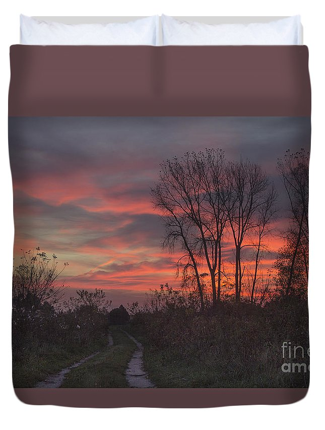 Sunrise Duvet Cover featuring the photograph Chiwaukee Sunrise by Richard Reinders