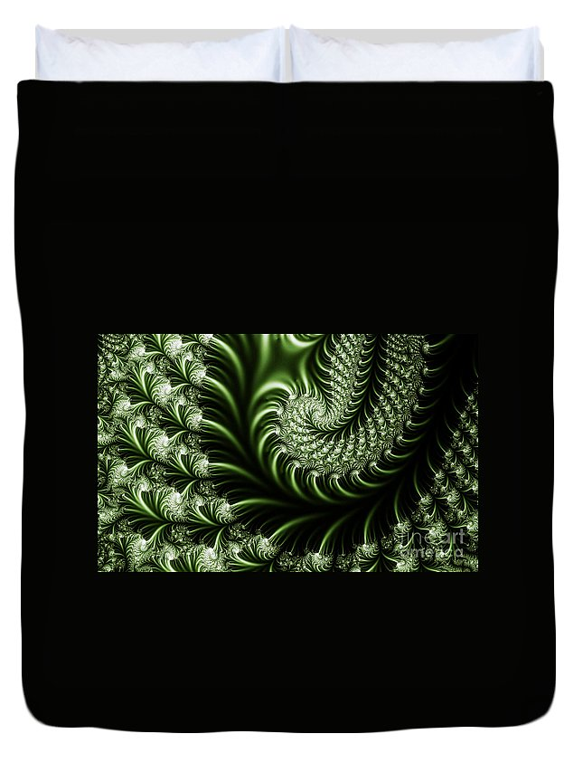 Clay Duvet Cover featuring the digital art Chlorophyll by Clayton Bruster