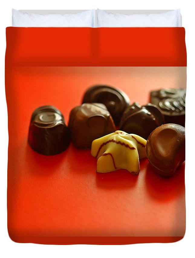 Still Life Duvet Cover featuring the photograph Chocolate Delight by Evelina Kremsdorf