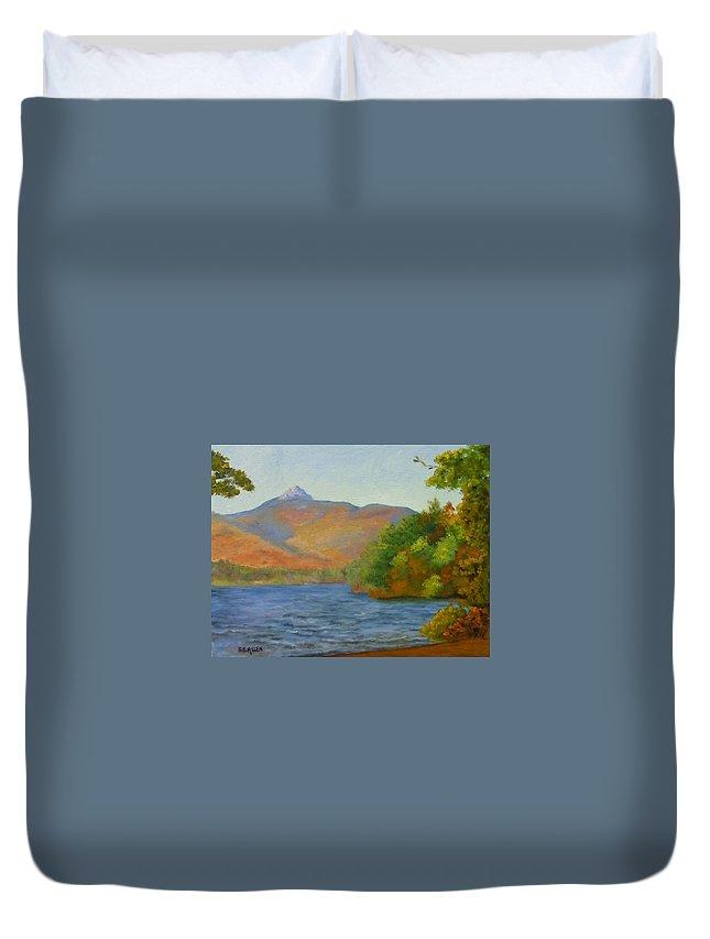 Mount Chocorua And Chocorua Lake Duvet Cover featuring the painting Chocorua by Sharon E Allen