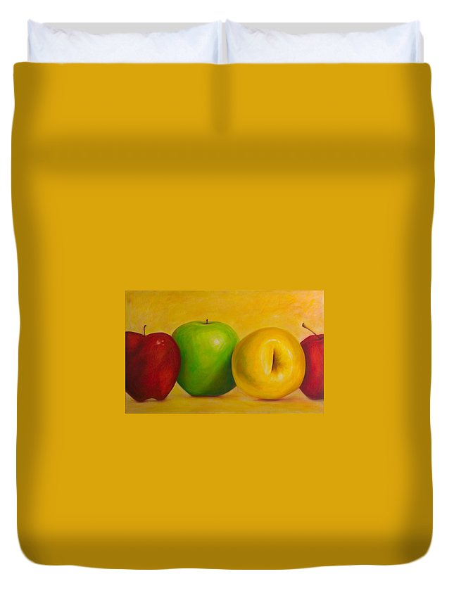 Still Life Duvet Cover featuring the painting Chorus Line by Shannon Grissom