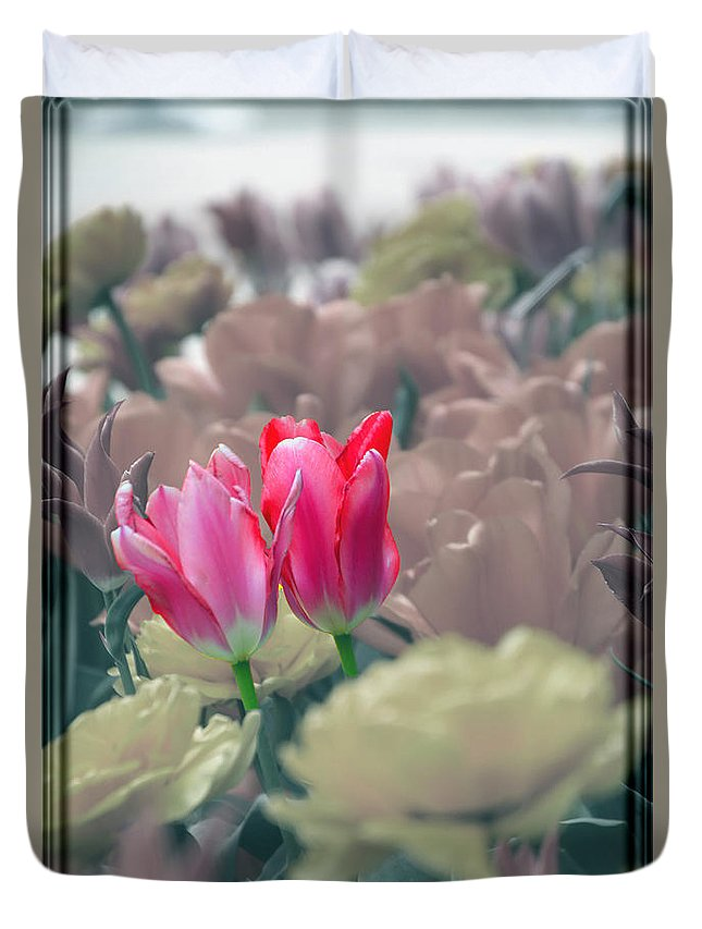 Tulips Duvet Cover featuring the photograph Chosen by Debbie Nobile