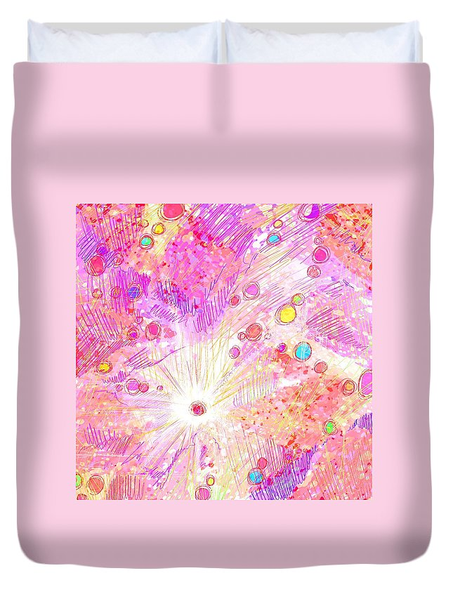 Abstract Duvet Cover featuring the digital art Chosen by Rachel Christine Nowicki