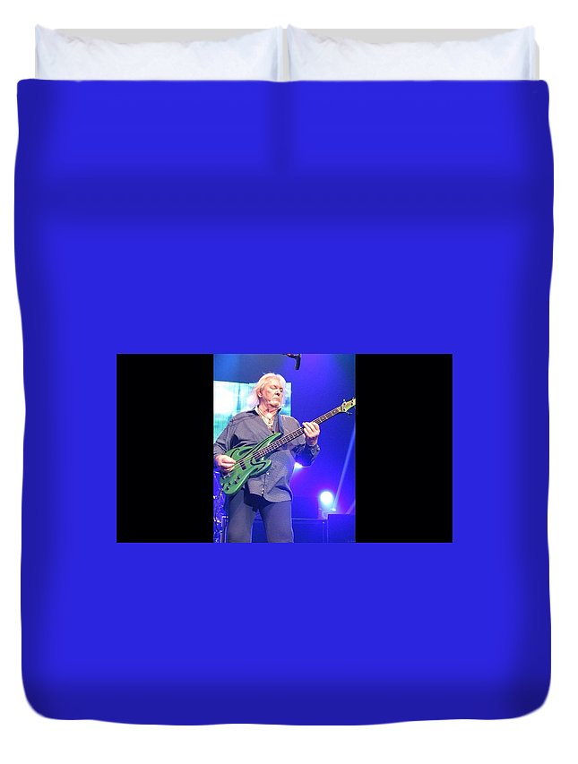 Musicians -yes - Tower Theatre Duvet Cover featuring the photograph Chris Squire by R Kratz