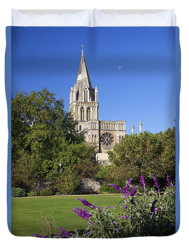 Christ Duvet Cover featuring the photograph Christ Church Cathedral Oxford University Uk by Peter Barritt