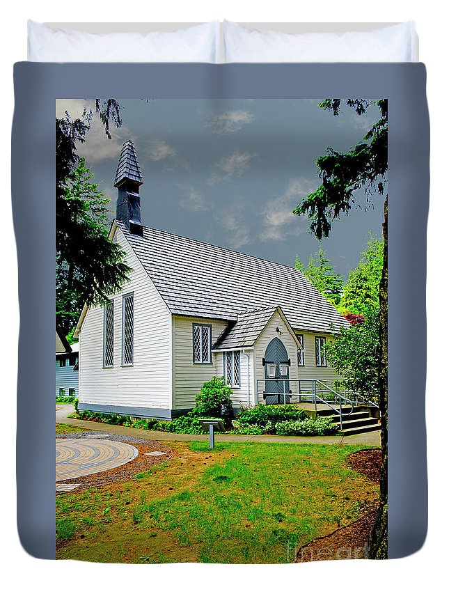 Beautiful Bc Duvet Cover featuring the photograph Christ Church by Rod Wiens