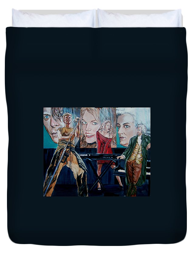 Christine Anderson Duvet Cover featuring the painting Christine Anderson Concert Fantasy by Bryan Bustard